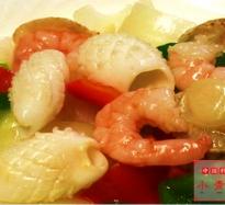 323:海鮮三種の塩味炒め
